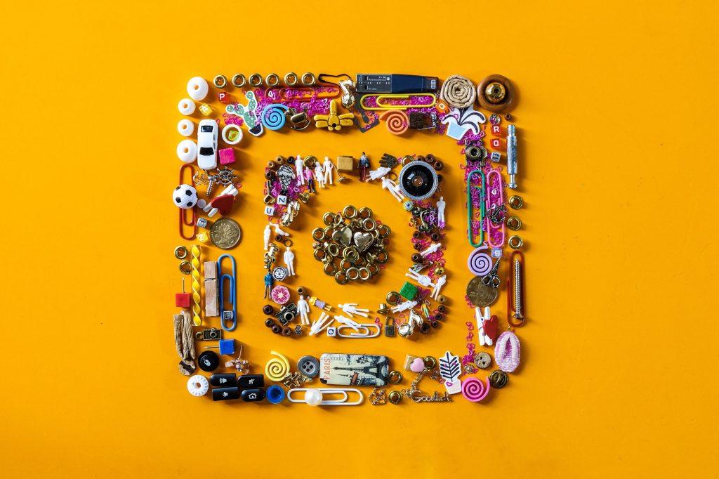 colorful social media: instagram Nominated 💛💜❤️♥️